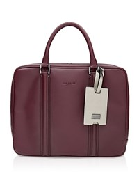 Ted Baker Dice Leather Document Bag Oxblood