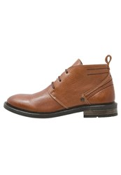 Wrangler Roll Casual Laceups Nut Brown