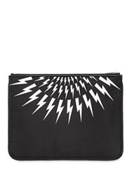 Neil Barrett Flashes Printed Nylon Pouch
