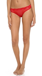 Timpa Duet Lace Low Cut Thong Red