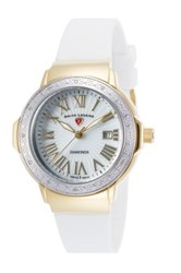 Invicta Women's South Beach Mother Of Pearl Diamond Watch White