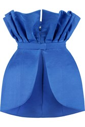 Natasha Zinko Cotton Blend Faille Bustier Blue