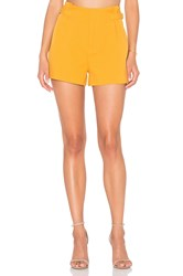 Lucy Paris Diane Pleated Shorts Mustard
