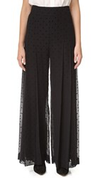 See By Chloe Wide Leg Polka Dot Trousers Black