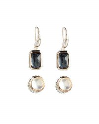 Ippolita Rock Candy Pyrite Stud And Dangle Earring Set Silver