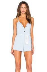 Toby Heart Ginger Fray Love Romper Denim