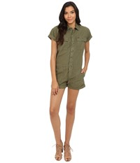 Obey Raleigh Romper Army Women's Jumpsuit And Rompers One Piece Green
