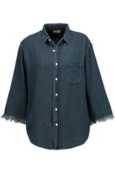 Simon Miller Sawyer Denim Shirt Dark Denim