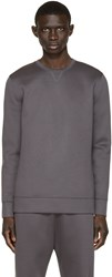 Helmut Lang Grey Neoprene Taped Pullover