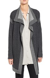 Eileen Fisher Women's Plait Detail Cashmere And Wool Drape Front Cardigan