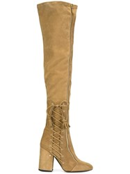 Laurence Dacade 'Maren' Lace Up Detail Boots Nude And Neutrals