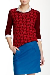 J.Crew Factory Embroidered Front Tee Multi
