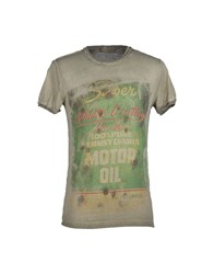 Athletic Vintage Topwear T Shirts Men Military Green