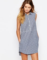 People Tree Organic Fairtrade Cotton Shirt Dress In Check Multi