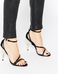 Little Mistress Barely There Heeled Sandals Black