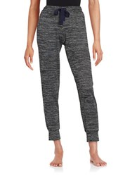 Lord And Taylor Space Dyed Pajama Pants Black