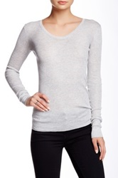 Inhabit Long Sleeve Silk Blend Tee Gray