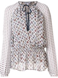 Derek Lam 10 Crosby Printed Tunic White