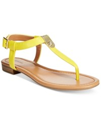 Styleandco. Style And Co. Baileyy Thong Sandals Only At Macy's Women's Shoes Yellow