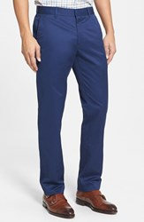 Men's Big And Tall Bonobos 'Weekday Warrior' Non Iron Slim Fit Cotton Chinos Monday True Blues