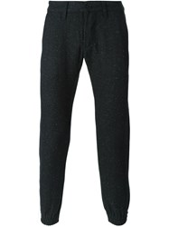 Edwin Gathered Ankle Trousers Black