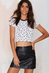 Nasty Gal After Party Vintage Star Power Crop Tee