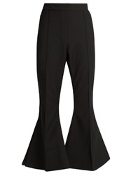 Ellery Federico Flared Cropped Trousers Black