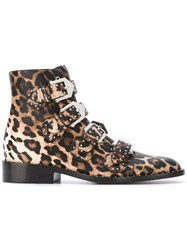 Givenchy Leopard Print Boots Almond