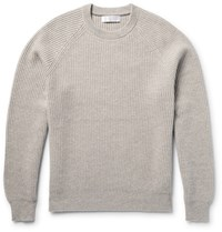 Brunello Cucinelli Ribbed Cashmere Sweater Neutrals