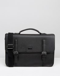 Ted Baker Satchel Pebble Grain Black