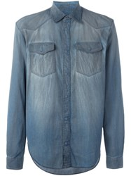 Maison Martin Margiela Distressed Effect Shirt Blue