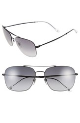 Gucci Men's 58Mm Navigator Sunglasses Matte Black Grey Gradient Matte Black Grey Gradient