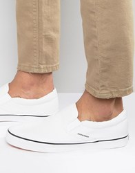 Jack And Jones Surf Canvas Slip On Trainers White