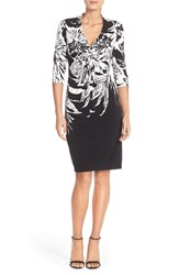 Women's Donna Ricco Print Knot Jersey Sheath Dress