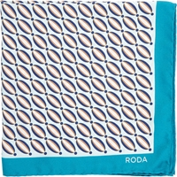 Roda Neat Twill Pocket Square Turquoise