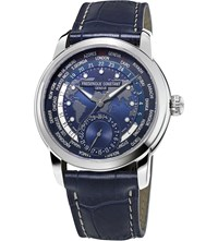Frederique Constant Fc718nwm4h6 Stainless Steel Watch Blue