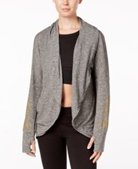 Gaiam Peace Yoga Wrap Light Grey Heather