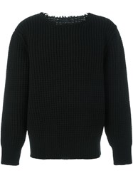 Lanvin Military Stitch Crew Neck Black