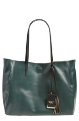 Poverty Flats By Rian 'Colorful' Faux Leather Shopper Green