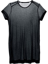 Julius Sheer Long T Shirt Black