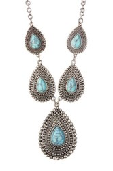 Spring Street Teardrop Turquoise Necklace Blue