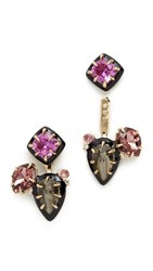 Alexis Bittar Custom Gemstone Earrings Gold Multi