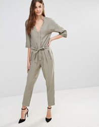 Sisley Slouch Jumpsuit 301 Green