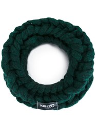 Kenzo 'Stranded' Snood Green