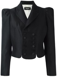 Dsquared2 Cropped Fitted Blazer Black
