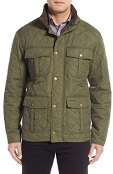 Barbour Men's 'Explorer' Water Resistant Quilted Utility Jacket Olive