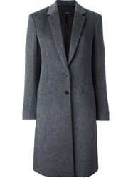 Joseph Buttoned Mid Length Coat Grey