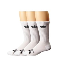 Adidas Skateboarding As Skateboarding Crew 3 Pack White Black Men's Crew Cut Socks Shoes