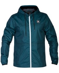 Hurley Men's Runner 2.0 Lightweight Jacket Rio Teal