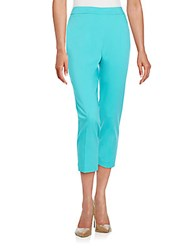 Chaus New York Courtney Straight Cropped Pants Turquoise Water